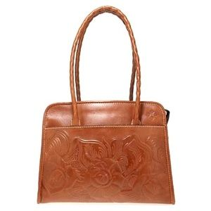 PATRICIA NASH | Tooled Rose Leather Shoulder Bag